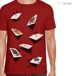 Kaos Seven Cards 3D Red
