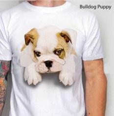 kaos bulldog, gambar bulldog lucu, anak anjing, puppy lover, pecinta bulldog