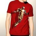 Jual kaos IRON MAN TERBANG, Kaos 3D Iron Man Merah, Kaos Umakuka Clothing 3D