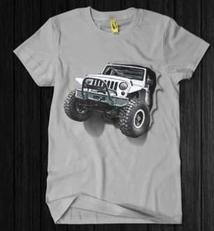 Kaos JEEP 3D GREY, Kaos Komunitas JEEP 3D, Jeep Lover