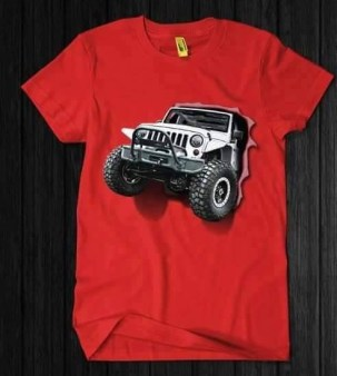 Kaos JEEP 3D Orange, Kaos Komunitas JEEP 3D, Jeep Lover
