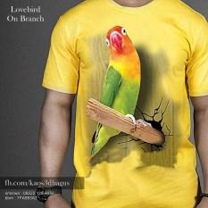 jual kaos lovebird 3d, kaos burung ocehan, kaos klub burung lovebird, pecinta lovebird
