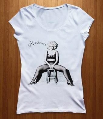 Kaos Madonna Like A Virgin 3D (Female), Kaos Gambar Madonna, Kaos Musik Pop