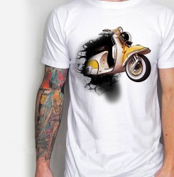 Kaos VESPA, Kaos Klub Vespa, Scooter Club Exclusive T-Shirt