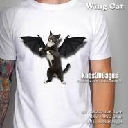 Kaos 3D WING CAT, Kaos Gambar Kucing, Kaos 3D Umakuka, Kaos 3D Bagus, Kaos Kelompok Penyayang Kucing, Kaos 3D