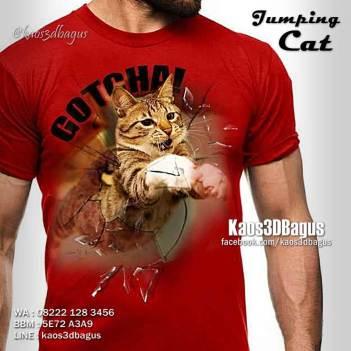 Kaos 3D KUCING LOMPAT, Kaos Klub Pecinta Kucing, Kaos KUCING ANGGORA, Kaos Kucing BENGAL, Kaos Anak Kucing, Kaos3D, Kaos 3D Bagus, Kaos 3D Umakuka