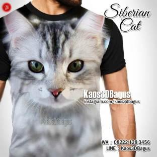 Kaos SIBERIAN CAT, Kaos GAMBAR KUCING, Kaos PECINTA KUCING, Kaos ANIMAL LOVER