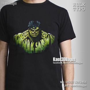 Kaos Gambar Hulk, Kaos Superhero HULK, Kaos Film Hulk