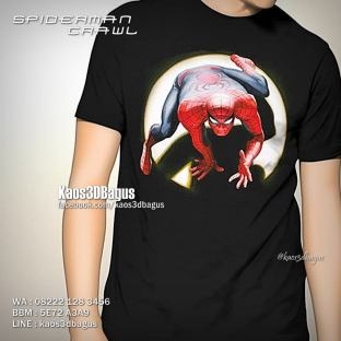 Kaos SPIDERMAN, Kaos 3D The Amazing Spiderman, Kaos Spiderman Fans Indonesia, Kaos3D, Kaos 3D Superhero, Kaos 3D Bagus, Kaos 3D Umakuka