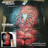 Kaos Spiderman Body, Kaos Kostum Spiderman, Kaos 3 Dimensi, Kaos Superhero