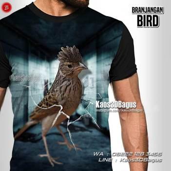 Kaos Gambar Burung Branjangan, Kaos BURUNG, Kicau Mania, Manuk Branjangan, Kaos Gambar Burung