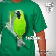 Kaos CUCAK IJO, Kaos Burung Cucak Hijau, Kaos KLUB BURUNG, Kaos KICAU MANIA, Kaos 3D, Kaos 3D Bagus, http://www.instagram.com/kaos3dbagus
