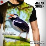 Kaos KLUB BURUNG, Kaos JALAK SUREN, Kaos3D Kicau Mania, Pecinta Burung Jalak Suren
