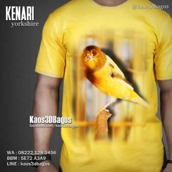 Kaos Gambar BURUNG, Kaos 3D Kenari, Kaos BURUNG KICAU, Kaos KICAU MANIA, Kaos Burung Kenari, Kaos Klub Kenari