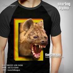 Kaos HYENA, Kaos ANIMAL, Kaos3D, Binatang, Wild Animal, National Geographic Tshirt