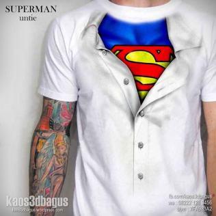 kaos superman inside, kaos kostum superman, kaos 3d umakuka murah, kaos superhero keren 3d, kaos 3d bagus