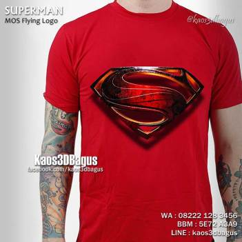 Kaos SUPERMAN LOGO 3D, Kaos MAN OF STEEL LOGO, Kaos 3D Gambar Superman, Kaos LOGO SUPERMAN, Man Of Steel, Kaos3D, Kaos 3D Umakuka, Kaos 3D Bagus, Kaos Superhero 3D
