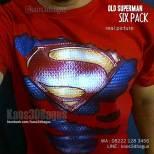 Kaos SUPERMAN, Kaos3D, Superhero, Kaos KOSTUM SUPERMAN ROBEK, Kaos SIX PACK