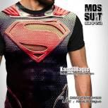 Kaos MOS SUIT, Kaos3D Kostum Superman, Kaos Kostum Superhero, Kaos 3 Dimensi