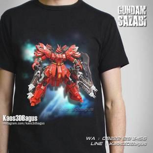 Gundam Sazabi, Kaos Gundam, Kaos3D, Kaos KARAKTER, Kaos Anak