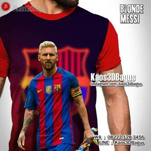 Kaos LIONEL MESSI, Blonde Messi, INDO BARCA, Football, Kaos FUTSAL, Soccer