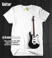 Kaos Gambar Gitar Listrik, Electric Guitar 3D
