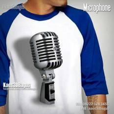 Kaos 3D, Microphone, Kaos Vokalis Band, Alat Musik, https://instagram.com/kaos3dbagus, WA ; 08222 128 3456, LINE : @kaos3dbagus