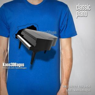 Kaos 3D, Piano Klasik, Gambar Piano, Seragam Les Musik, Sekolah Musik, https://instagram.com/kaos3dbagus, WA : 08222 128 3456, LINE : @kaos3dbagus