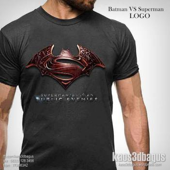 Kaos Film BATMAN VS SUPERMAN, Kaos 3D, Batman Logo, WA : 08222 128 3456, LINE : @kaos3dbagus