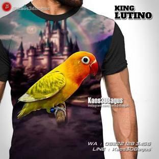 Kaos Klub Burung Lovebird, Kaos3D Gambar Burung Lovebird, Kaos Lovebird, Kaos Lovebird Lutino, Kaos 3 Dimensi Burung