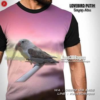 Lovebird Mania, Klub Burung Lovebird, Burung Cinta, Kaos Kicau Mania, Kaos 3 Dimensi, Kaos Gambar Burung, Kaos3D