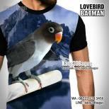 Lovebird Batman, Lovebird Mania, Kaos LOVEBIRD, Kaos BURUNG, Kicau Mania, Kaos3D