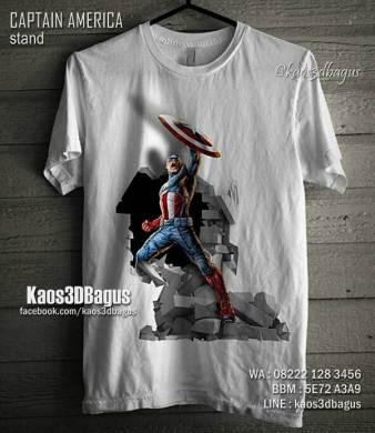 Kaos3D, Kaos 3D Captain America, The Winter Soldier, Kaos 3 Dimensi, Kaos 3D Bandung, Kaos Distro Keren, Kaos 3D Umakuka, Kaos 3D Bagus