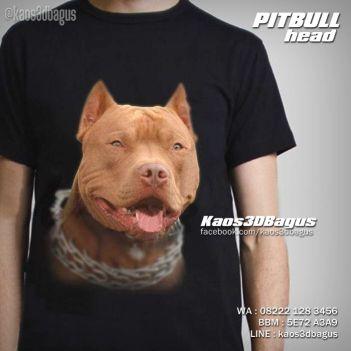 Kaos PITBULL, Kaos PITBULL DOG, Kaos Gambar ANJING, Kaos 3D Anjing PITBULL, Kaos 3D, Umakuka, Kaos 3D Bagus, http://www.facebook.com/kaos3dbagus, WA : 08222 128 3456, LINE : KAOS3DBAGUS
