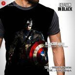 Kaos SUPERHERO, Kaos Anak, Kaos Gambar Captain America