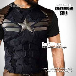 Kaos3D Kostum Captain America, Kaos Anak, Kaos Karakter, Kaos Tema Superhero, Kaos The Avengers