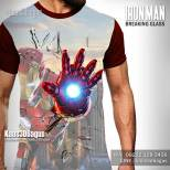 Kaos IRON MAN Breaking Glass, The Amazing Iron Man, Kaos SUPERHERO, https://www.facebook.com/kaos3dbagus, WA : 08222 128 3456, LINE : @kaos3dbagus