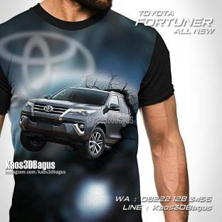 Kaos Gambar Mobil, Toyota Fortuner, All New Fortuner 2016, All New Fortuner 2017, Kaos Fortuner Community, Kaos Mobil Fortuner