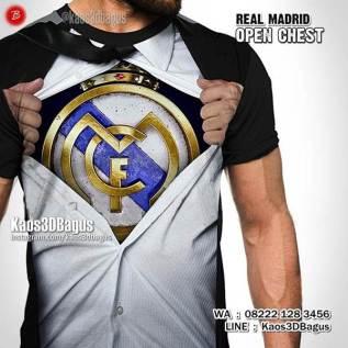 Kaos Futsal, Kaos MADRID, Logo Real Madrid, CR7, Laliga, Kaos3D, Kaos3DBagus