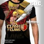Kaos COC, Barbarian, Kaos 3D, Clash Of Clans, Umakuka, https://instagram.com/kaos3dbagus, WA : 08222 128 3456, LINE : @kaos3dbagus