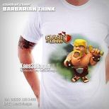 Kaos BARBARIAN, Kaos 3D, Kaos COC, Kaos Clash Of Clans, Umakuka, https://www.facebook.com/kaos3dbagus, WA : 08222 128 3456, LINE : @kaos3dbagus