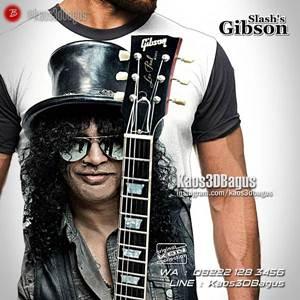 GROSIR Kaos GUNS N ROSES - Kaos GNR - Slash Gibson - Kaos Rock N Roll - Heavy Metal