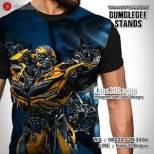 GROSIR KAOS - Kaos BUMBLEBEE - Kaos TRANSFORMERS - Kaos3D - Bumblebee Stands