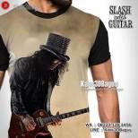 GROSIR KAOS - Kaos SLASH - Kaos GNR - Guns N Roses - Kaos3D - Slash With Guitar - Music
