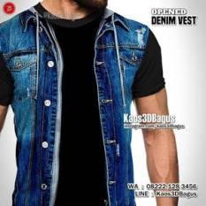 Grosir Kaos3D - Gambar Rompi Jeans