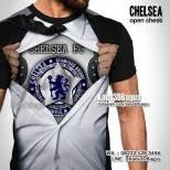 Kaos3D, Chelsea Open Chest, Kaos 3 Dimensi, Kaos BOLA CHELSEA, The Blues