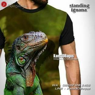 Iguana Lovers, Kaos Gambar Iguana, Kaos3D, Kaos Reptil Lovers, Reptil Mania Indonesia