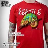 Kaos GAMBAR BUNGLON, Leopard Chameleon, Kaos3D, Kaos PECINTA REPTIL, Komunitas Reptil Indonesia