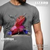 RED LIZARD, Kaos3D, Kaos GAMBAR KADAL, Kaos REPTIL MANIA, Kaos PECINTA REPTIL