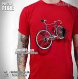Kaos SEPEDA FIXIE WARNA UNGU, Kaos FIXIE BIKE, Bicycle, Kaos3D